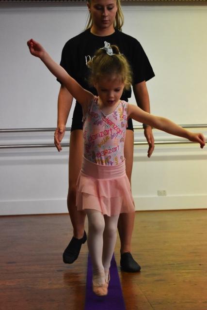Tip toes in Ballet Class