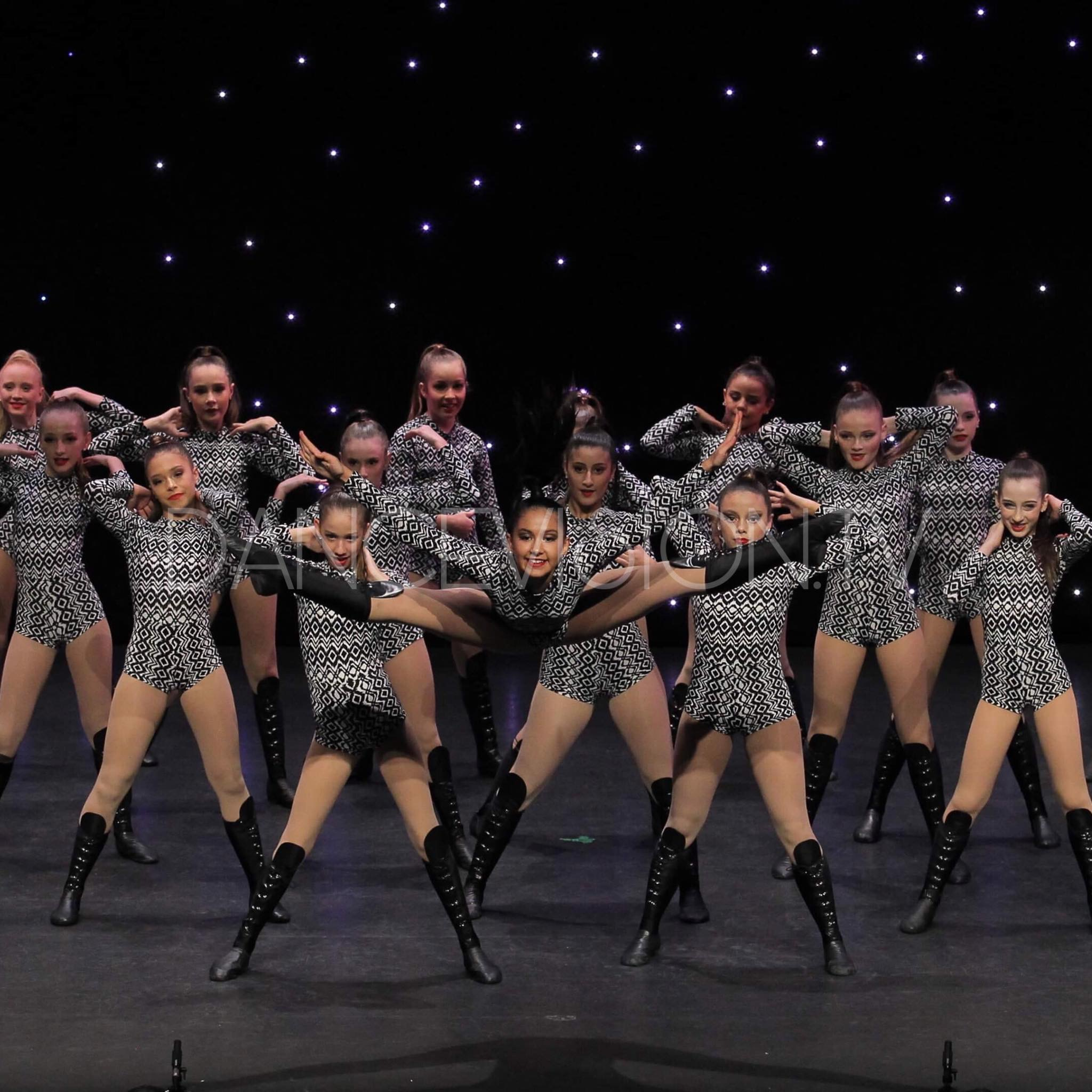 Commercial Jazz Dance Team at Dance Eisteddfod Competition