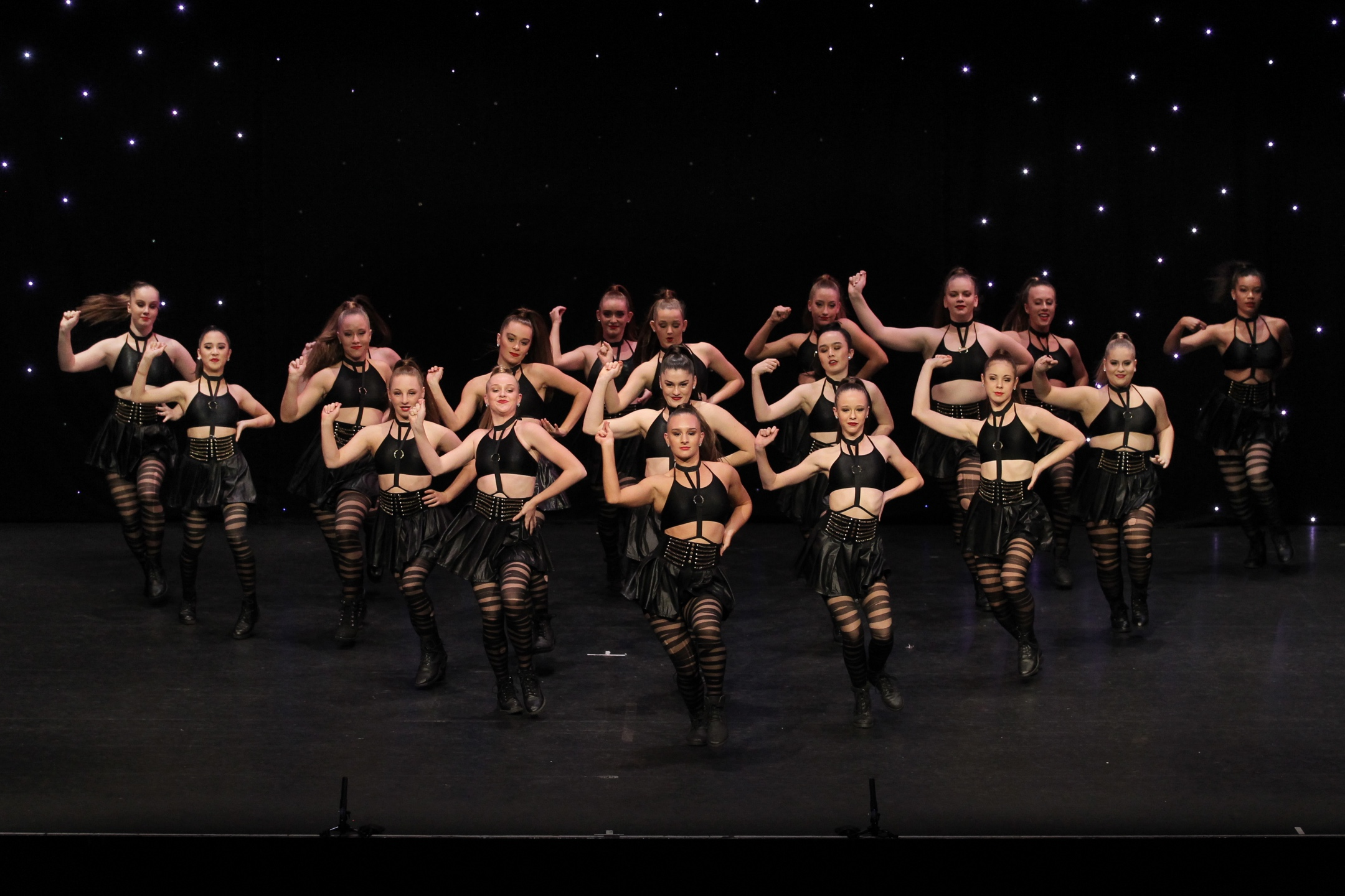 Commercial Jazz Dancers On Stage